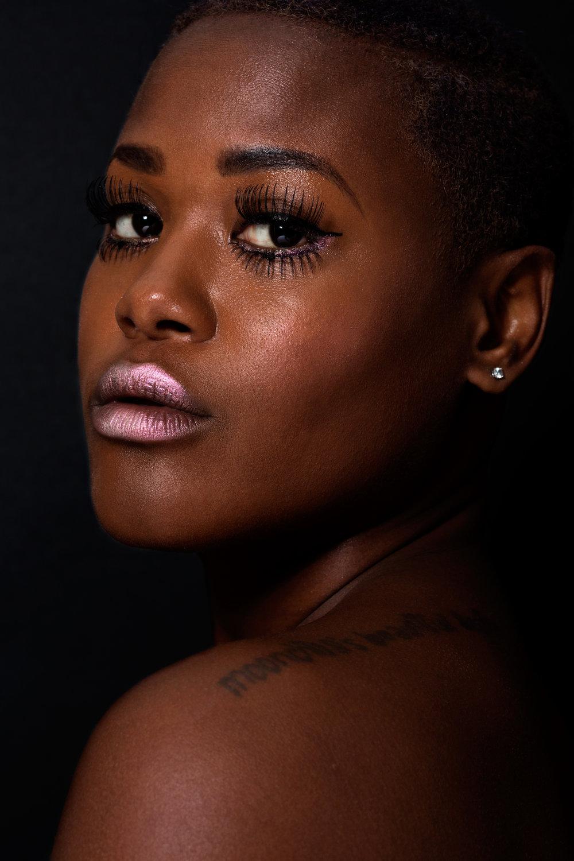 vintage makeup look for brown skin
