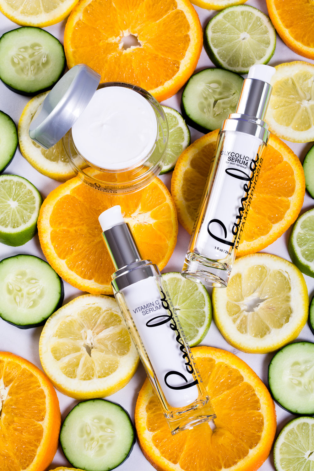 Always use Vitamin C and Glycolic in the morning  and never at night!