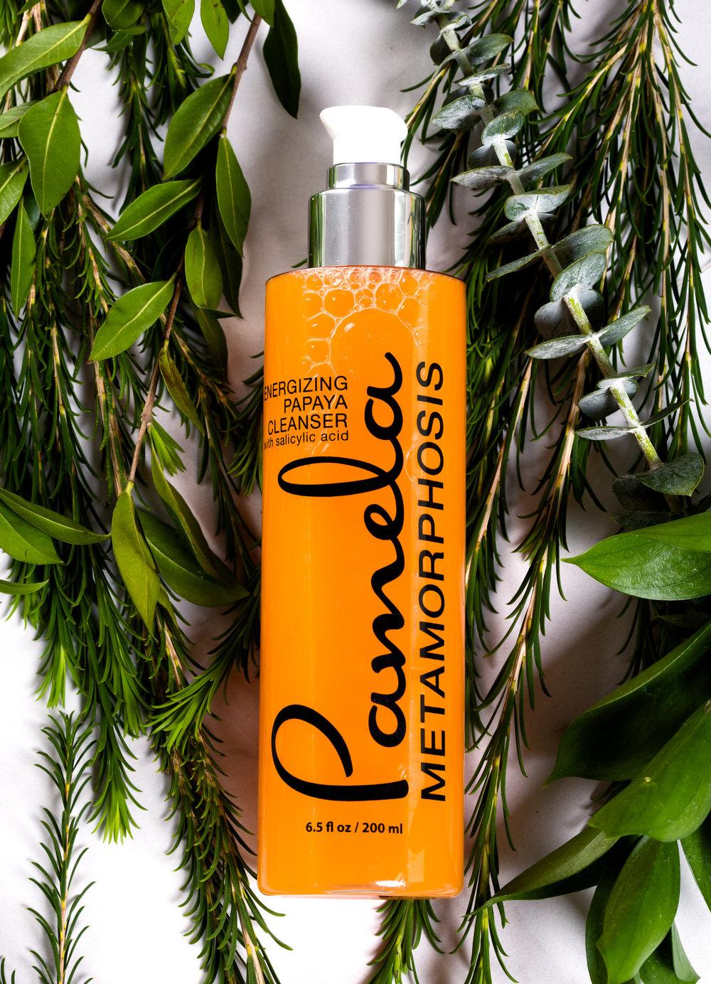 pamela metamorphosis energizing papaya cleanser face wash