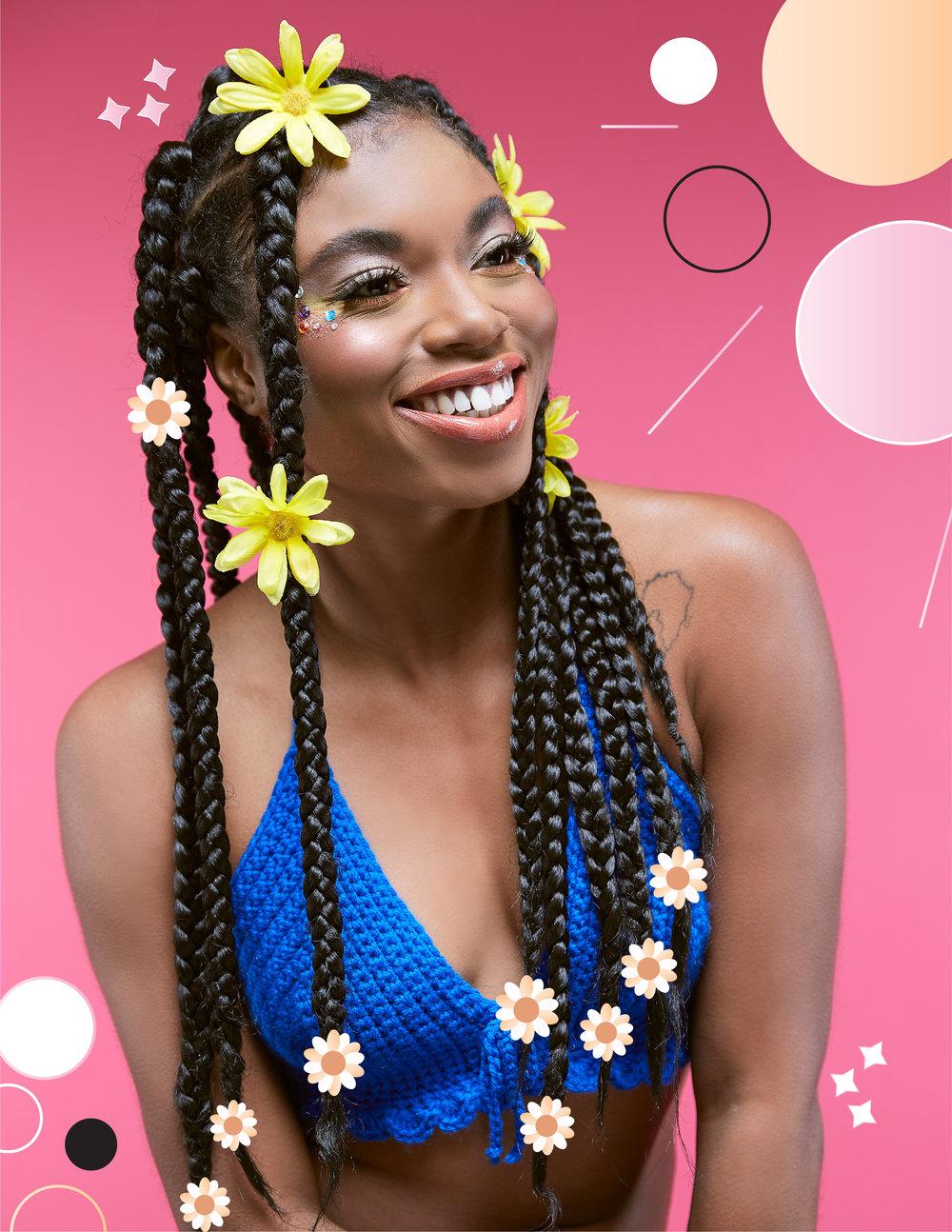 festival makeup looks for black women