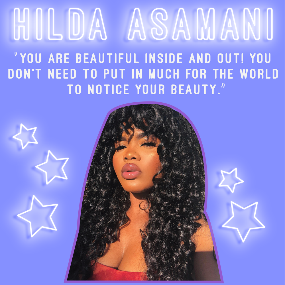 """You are BEAUTIFUL inside out and you don't need to put in much for the world to notice or acknowledge your BEAUTY OR SKIN. My holy grail beauty product for all women of color: Lipglosses because I believe it completes every look without any effort at all Skincare wise, I would recommend every woman of color to at least own a VITAMIN E oil because it is essential, and also contributes to a healthy looking skin, which basically gives the appearance of a glowy melanin skin.""-  @Hilldarh"