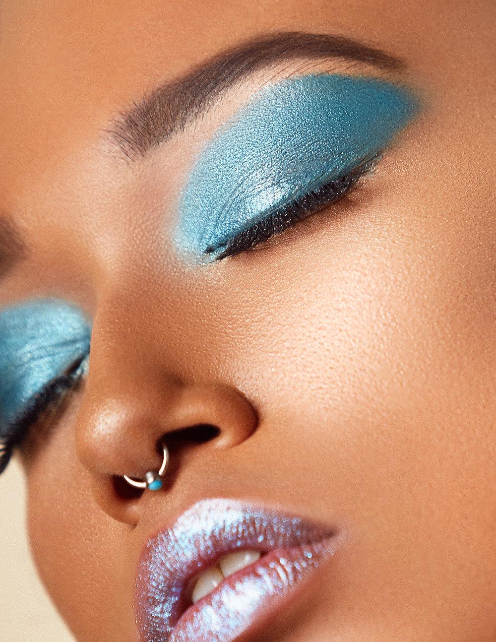 Shimmer makeup looks for deep skin tones