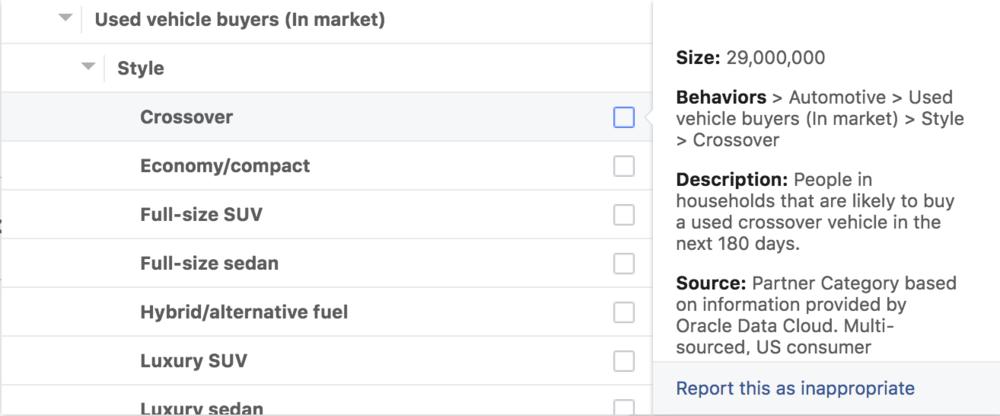 Facebook Ad Targeting Auto Dealer