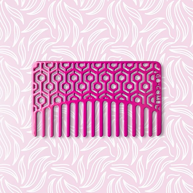 Straight, wavy or curly, the Cerise Hexagon is always game. . . . #gocomb #edc #hair #hairstyle #comb #combs #haircomb #hairstyling #style #beauty #instabeauty #lifehacks #hairdo #hairoftheday #hairgoals #haircare #hairfashion #hairideas #hairjourney #pursuepretty #portraits_ig #thatsdarling #hairproduct #longhair #pursuewhatislovely #beautyblogger #hexagon #hexagonal #dandelion #spring