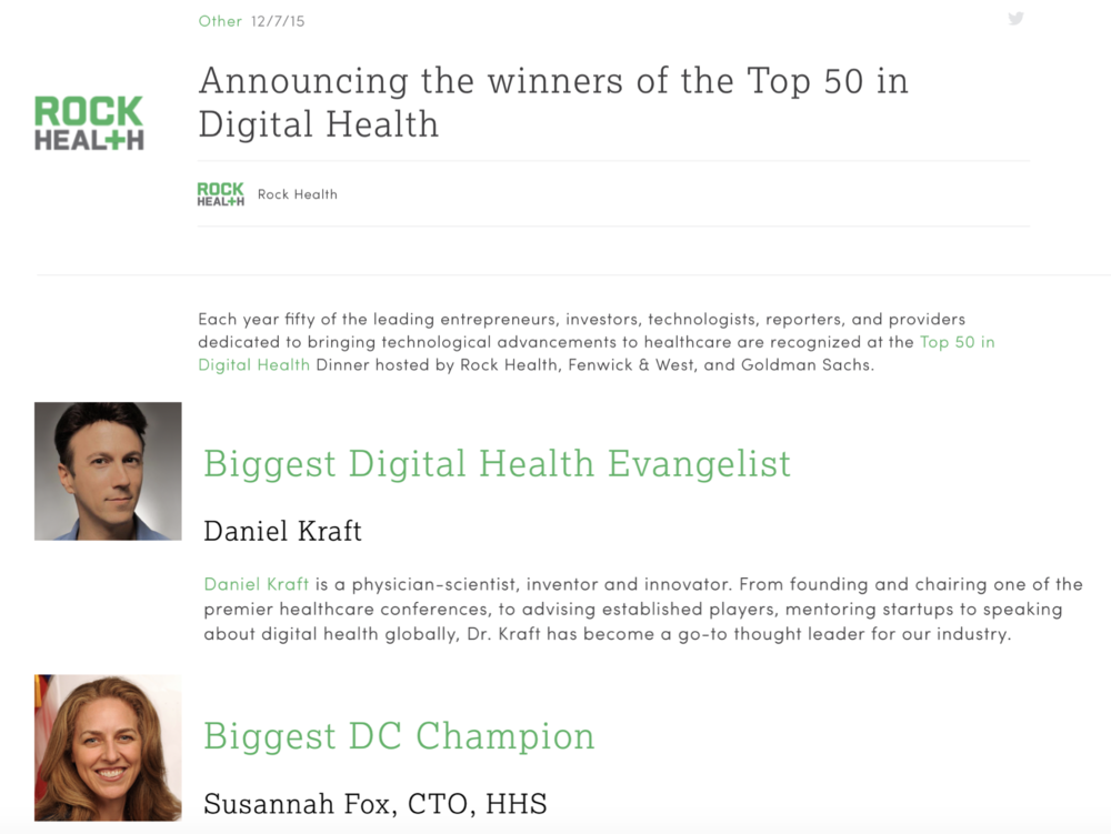 Daniel Kraft DIgital Health Top 50