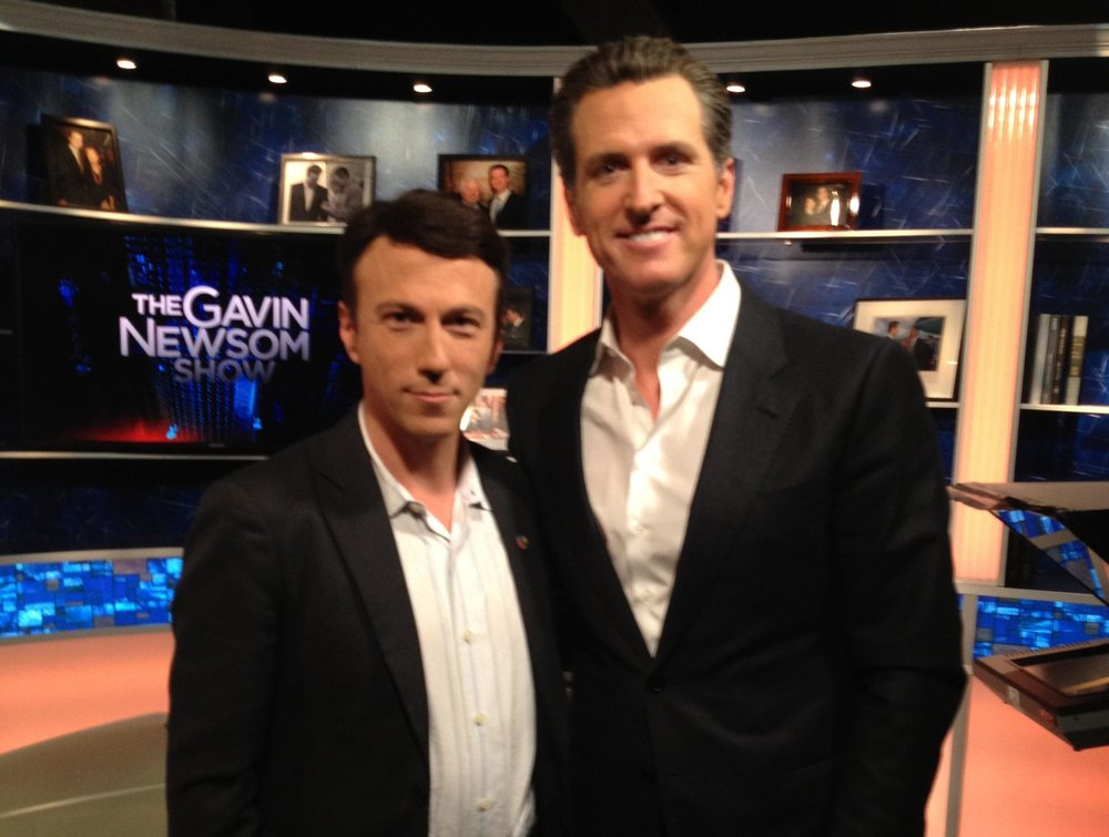 Daniel Kraft and Gavin Newsom
