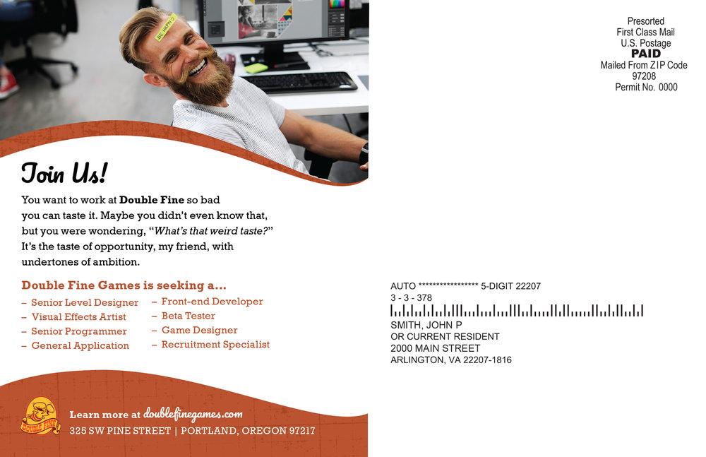 "Recruitment Postcard Template: Front – 8.5"" x 5.5"""