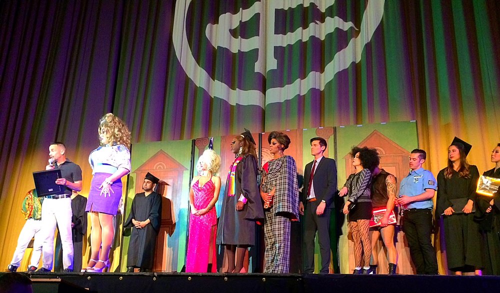 Peaches receiving The San Francisco Film Critics Circle Marlon Riggs Award