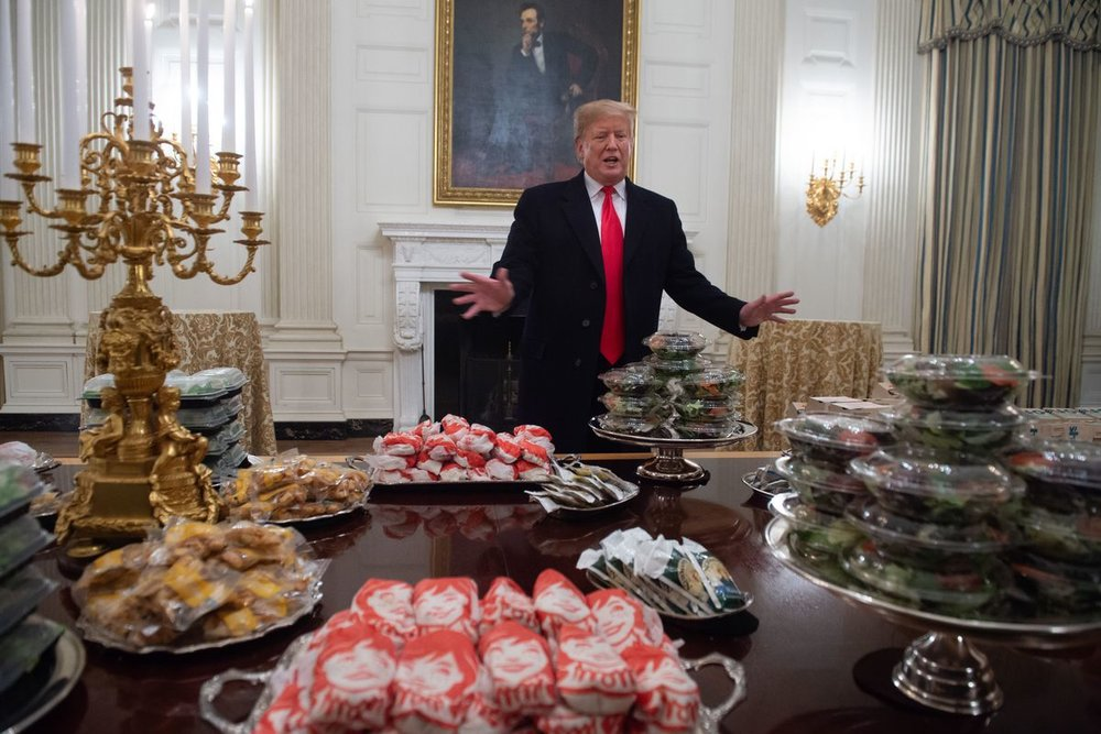 Trump hosting his McDonalds dinner