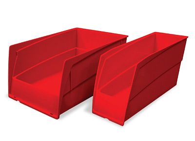 Single-wide and double-wide bins are ergonomically designed to make it easy to scoop up small parts or bulky, irregularly shaped items.