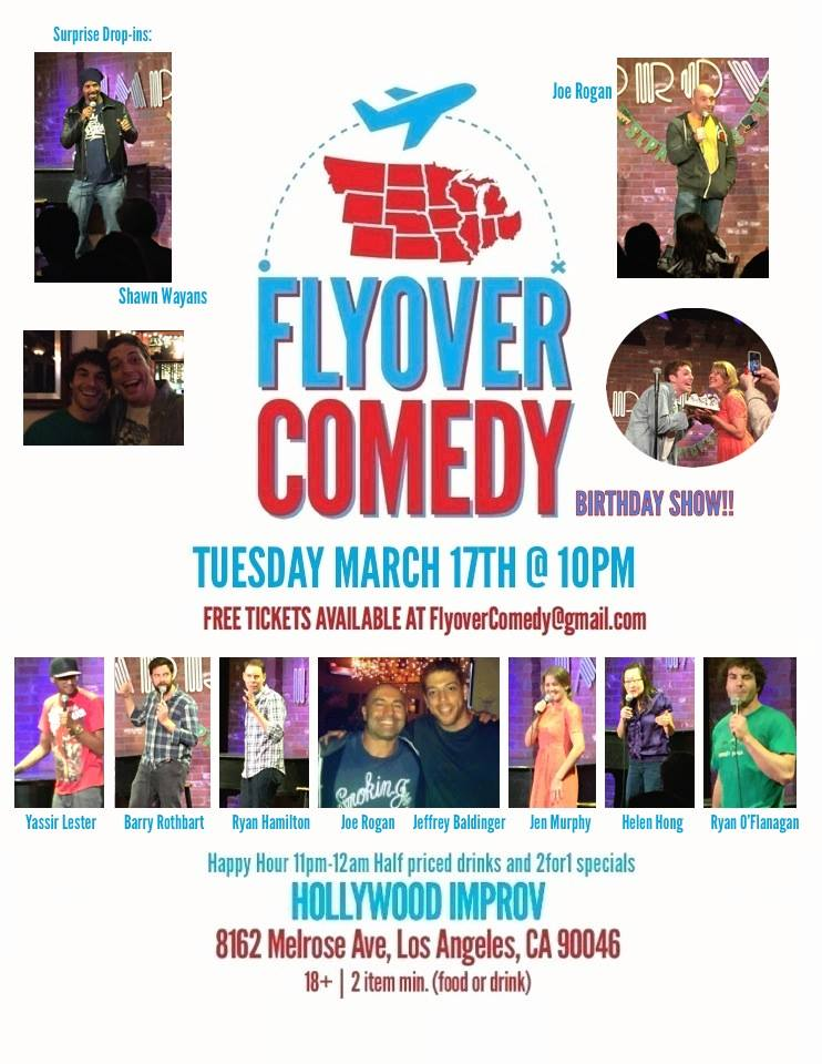 32. Flyover Comedy Birthday Show TUESDAY March 17th 2015.jpg
