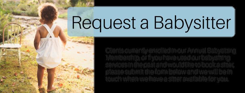 Babysitter Request Form — Your Happy Nest- Nannies, Babysitters ...