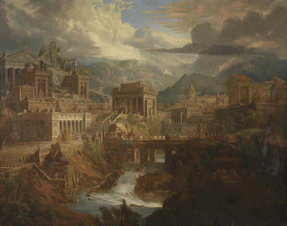 Jupiter Pluvius (detail) by Joseph Gandy (1771–1843), 1819. Photo: Tate, London