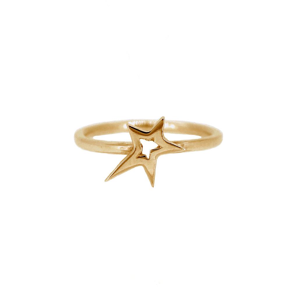 Gold Stella Star Ring