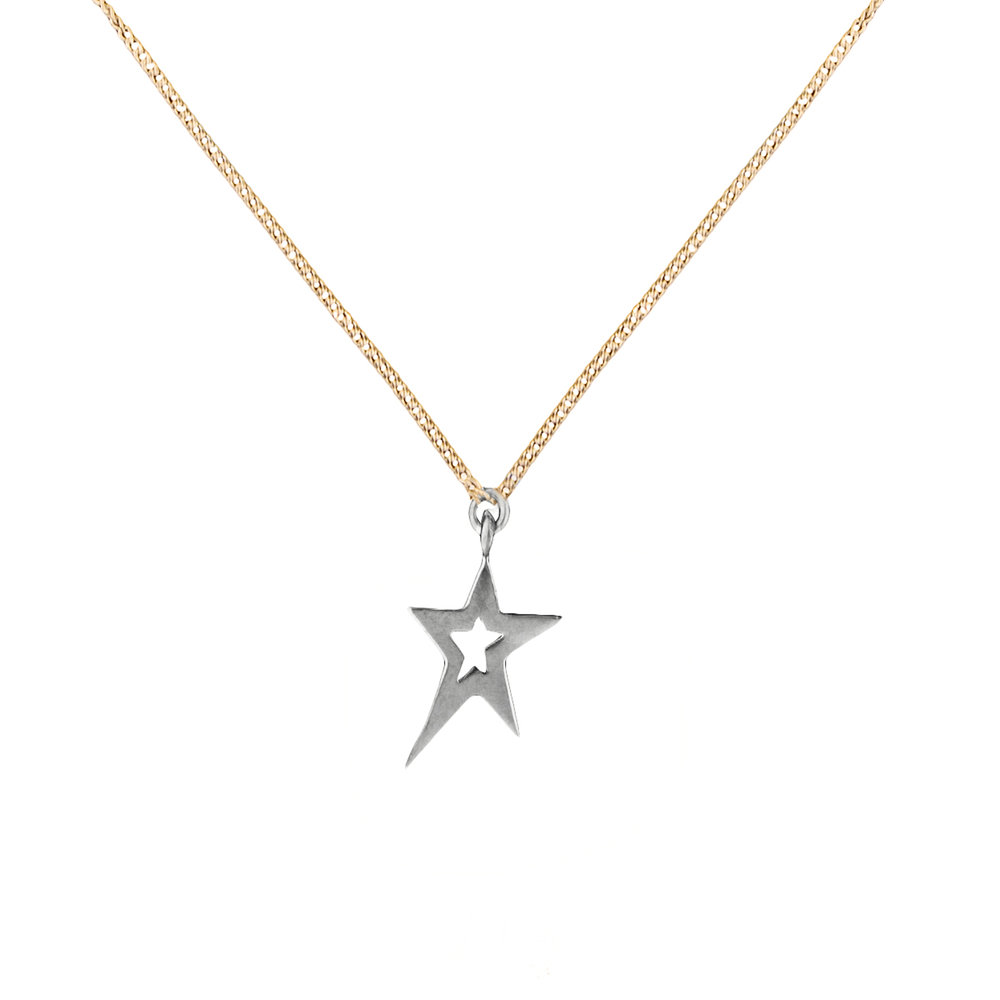 Combination Swinging Star Necklace