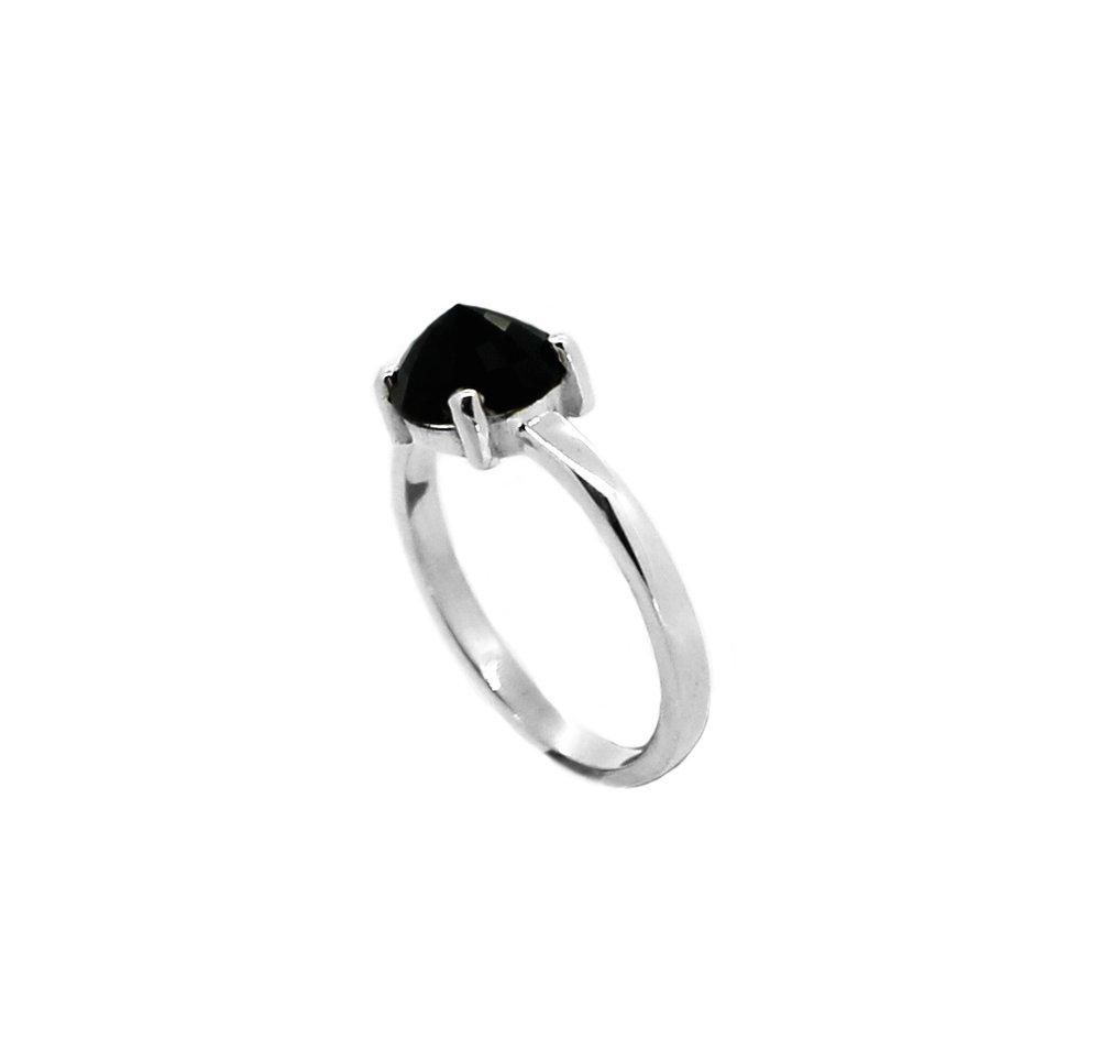 Stella Midnight Collection Single Black Sapphire Ring Silver close up.jpg