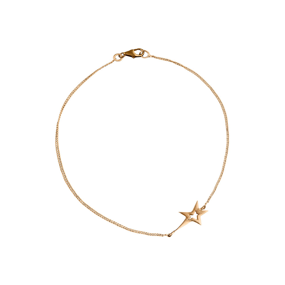 Fine 9ct Gold Star Studded Bracelet