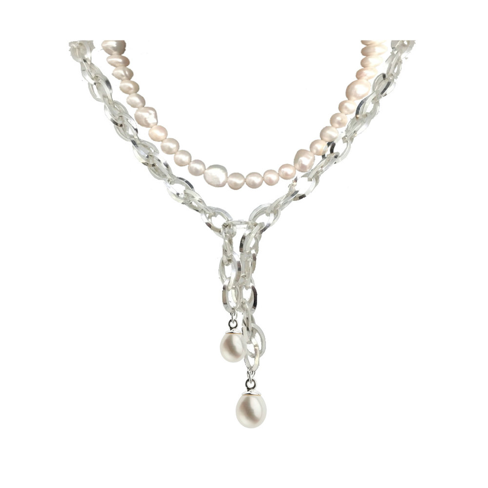 LIMITED EDITION - Fresh Water Pearl Meteorite Necklace