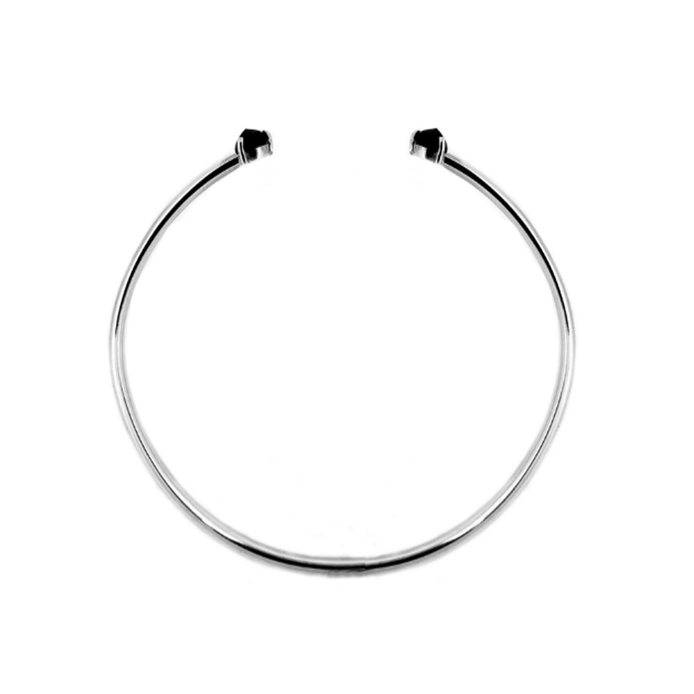 Sterling Silver Midnight Sapphire Cuff Bracelet