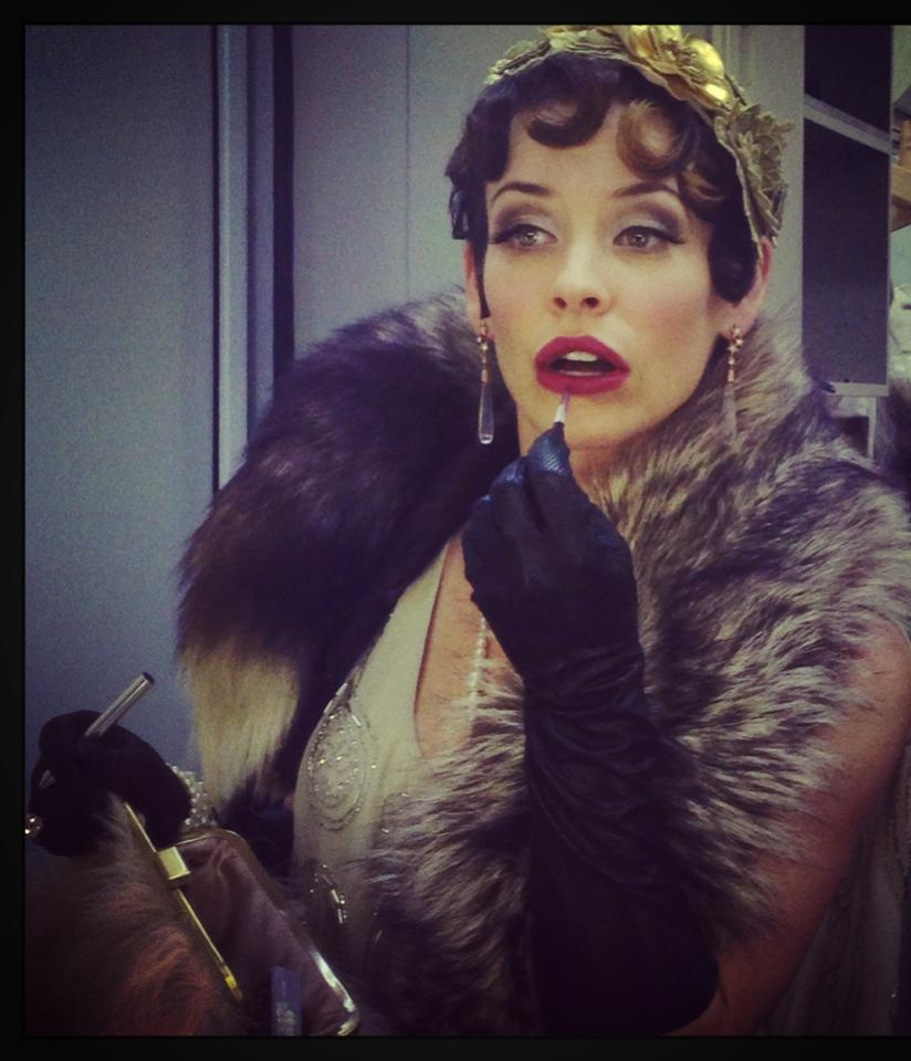 Actress Evangeline Lilly wearing TORY & KO. at Great Gatsby event