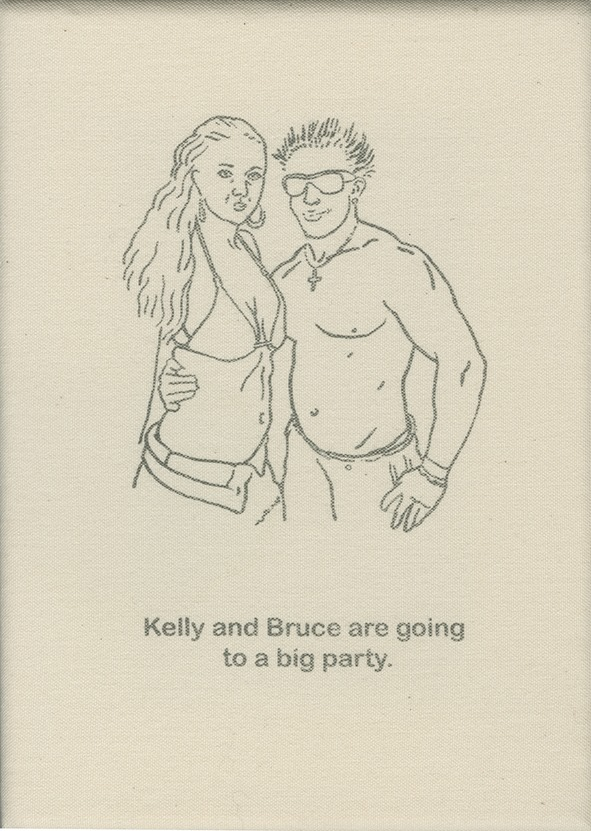 Kelly and Bruce are going to a big party.