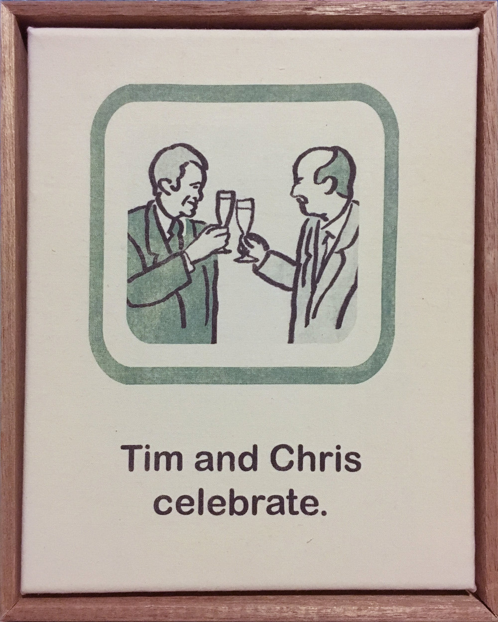 Tim and Chris celebrate.