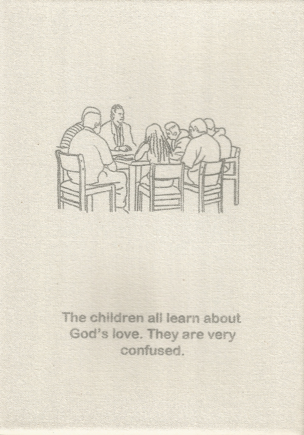 The children all learn about God's love. They are very confused.