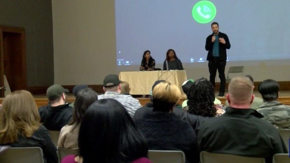 Speaking at Town Hall on Equitable Marijuana Legalization in NYS, hosted by Metro Justice