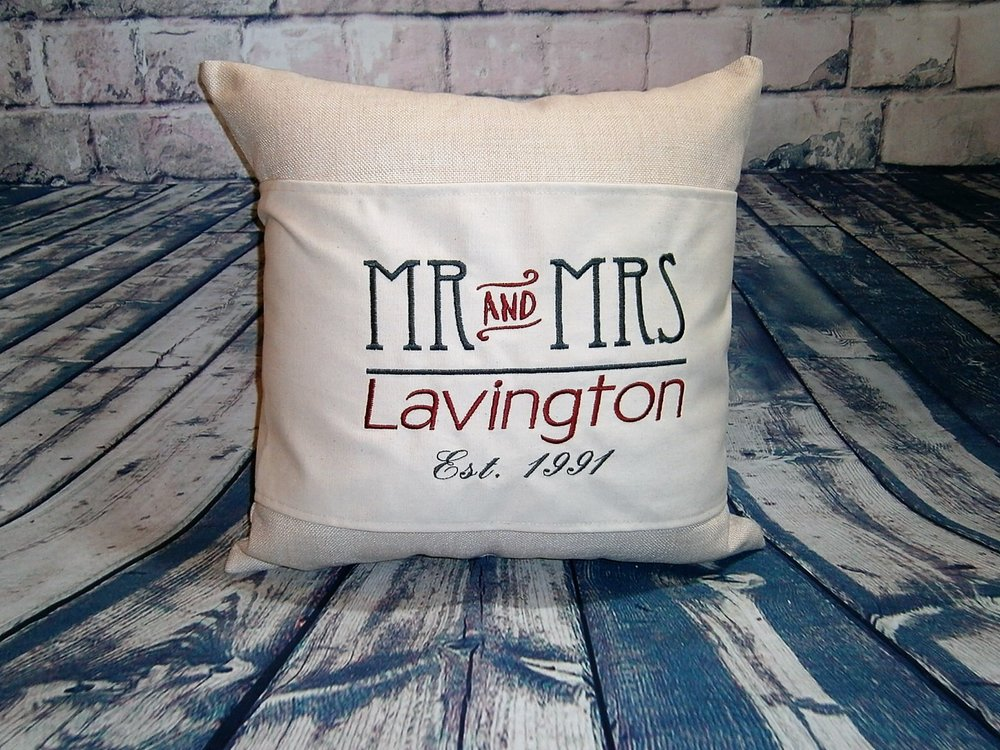 Mr. & Mrs. Pillow Wrap