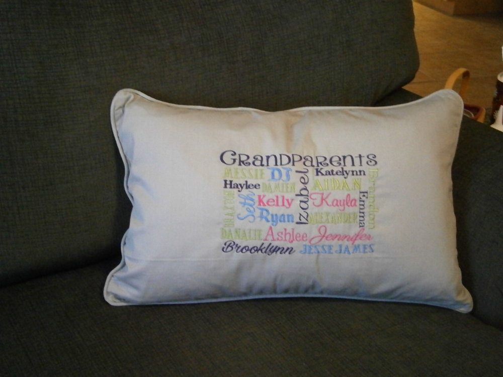 Grandparents Pillow Personalized