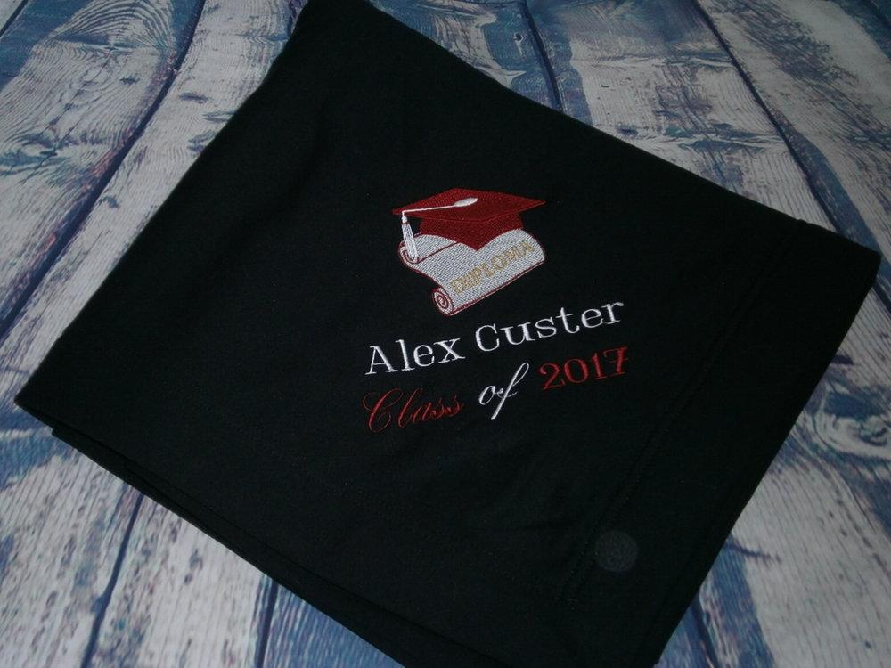 Graduation Blanket Personalized