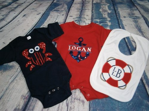 Monogrammed baby gifts lavington designs nautical gift set negle Images