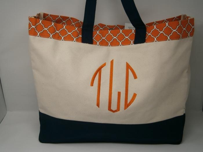 monogrammed beach bag lavington designs