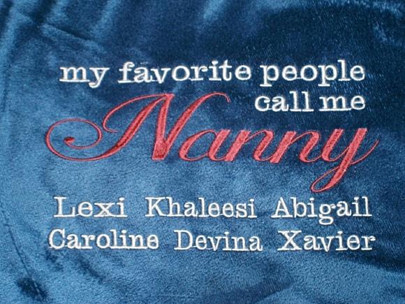 monogrammed gifts grandma throw blanket lavington designs