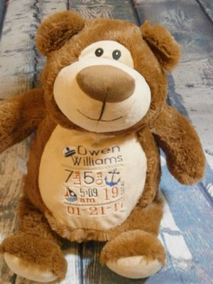 Monogrammed baby gifts lavington designs personalized nautical theme bear negle Gallery