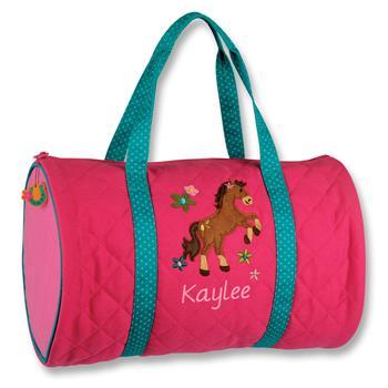 4906addfb2a7 Little Girls Horse Duffle Bag-Lavington Designs