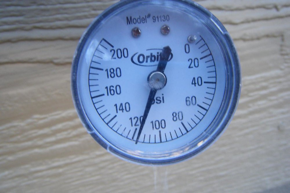 Everyone loves high water pressure, but the pressure in your home should be about 60 psi. High water pressure could damage plumbing fixtures in your home; I've seen sprinkler heads shoot out of the ground like a bottle rocket. Is it really worth the risk of running up a large plumbing repair bill? If your pressure is above 80 psi, consider having it fixed. A pressure reducing valve near your water meter may need adjusting or even replacing if you have an older home.