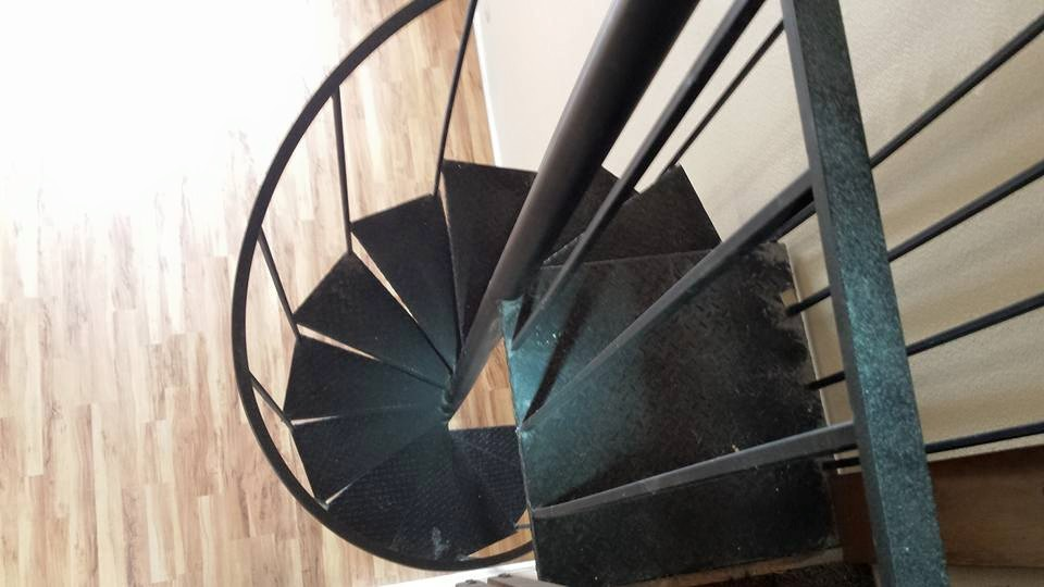 Spiral staircases are always a potential safety hazard for small children/pets - if you have one of these remind your kiddos to stay off of them.