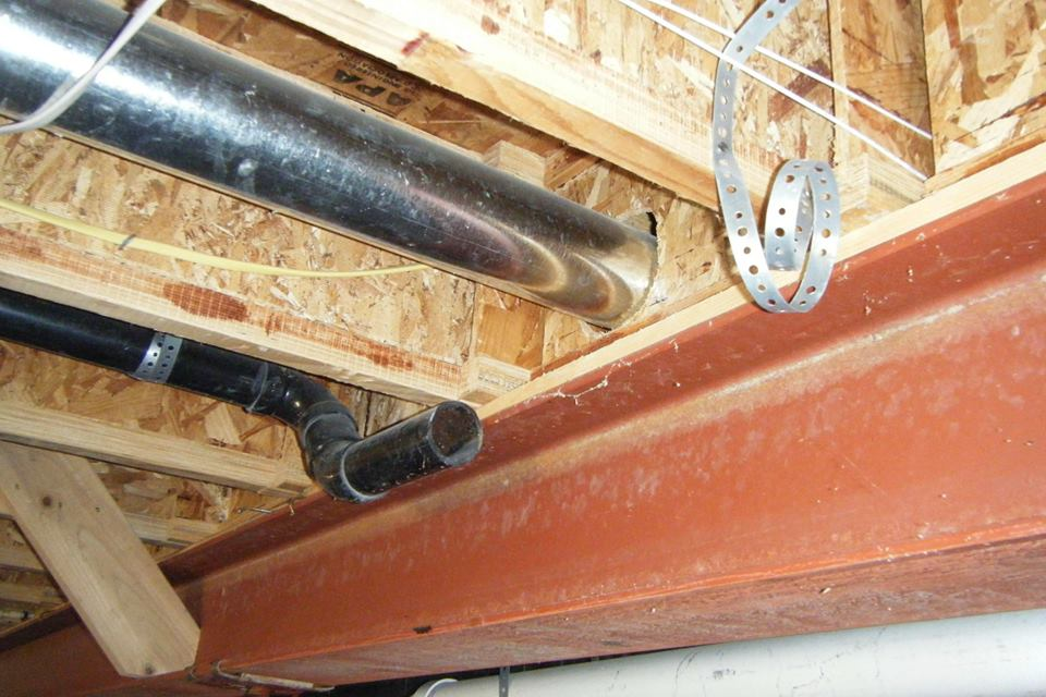 Inspecting foreclosed properties has its challenges; this home was sabotaged by the past owners before they left. Drain pipes cut/removed, drain traps removed, wires in electrical panel cut. Come on - grow up people!
