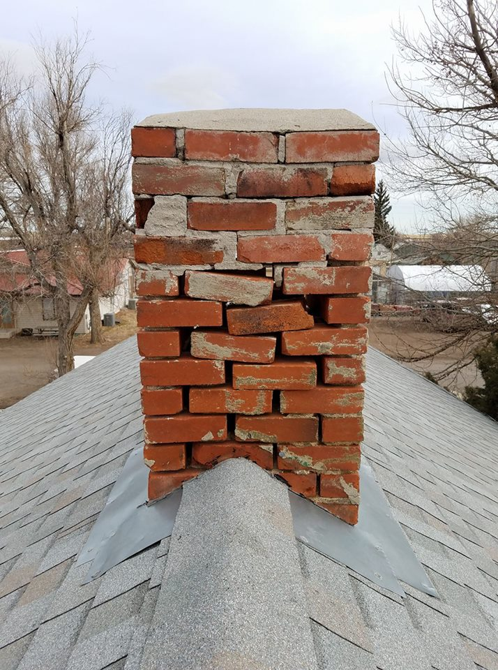 A little push and this 100+ year old see-through chimney would be in the driveway or on top of your car. When was the last time you've had your chimney inspected?