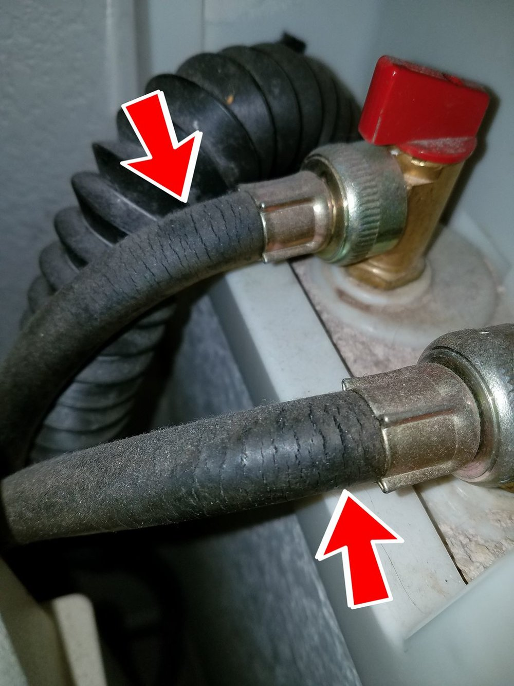 Cracked failing washer supply lines are a potential leak just waiting to happen - recommend replacing with new steel reinforced hoses. Have you looked at your washer hoses lately?