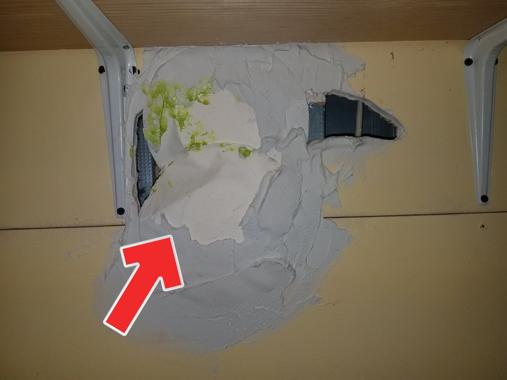 When you have a large hole to patch, think paper plates. Who does this?