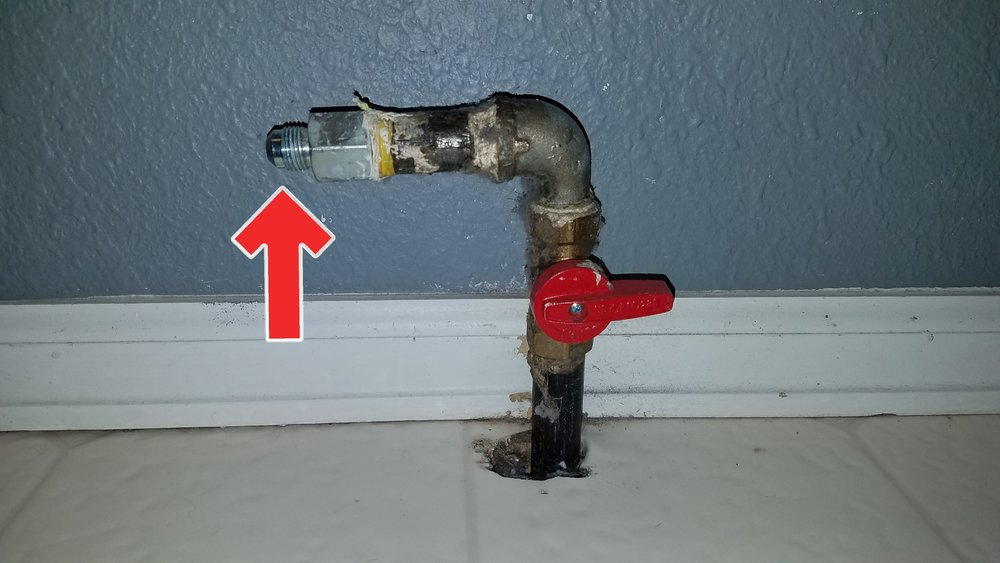 An uncapped gas line is a safety hazard with an easy fix, always cap off unused gas lines.