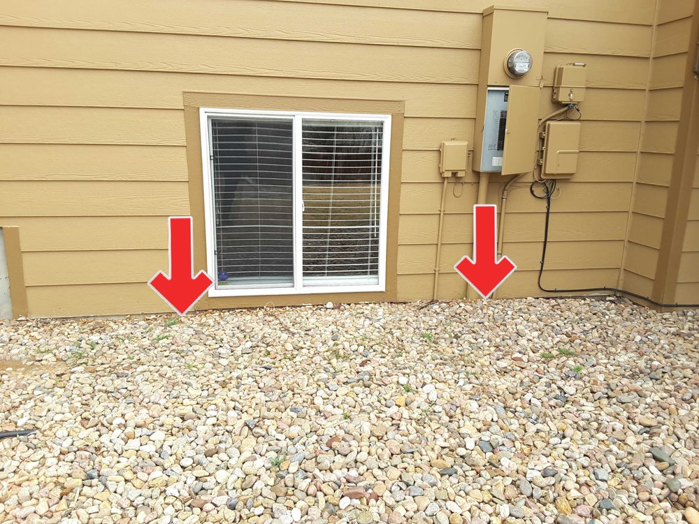 Landscaping or soil in contact with siding promotes wood decay and creates conditions conducive to termites.