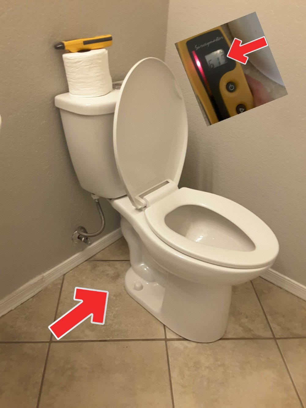 Loose/leaking toilets are a common issue in a 20 year old home. That's why I always check nearby floors with a moisture meter.