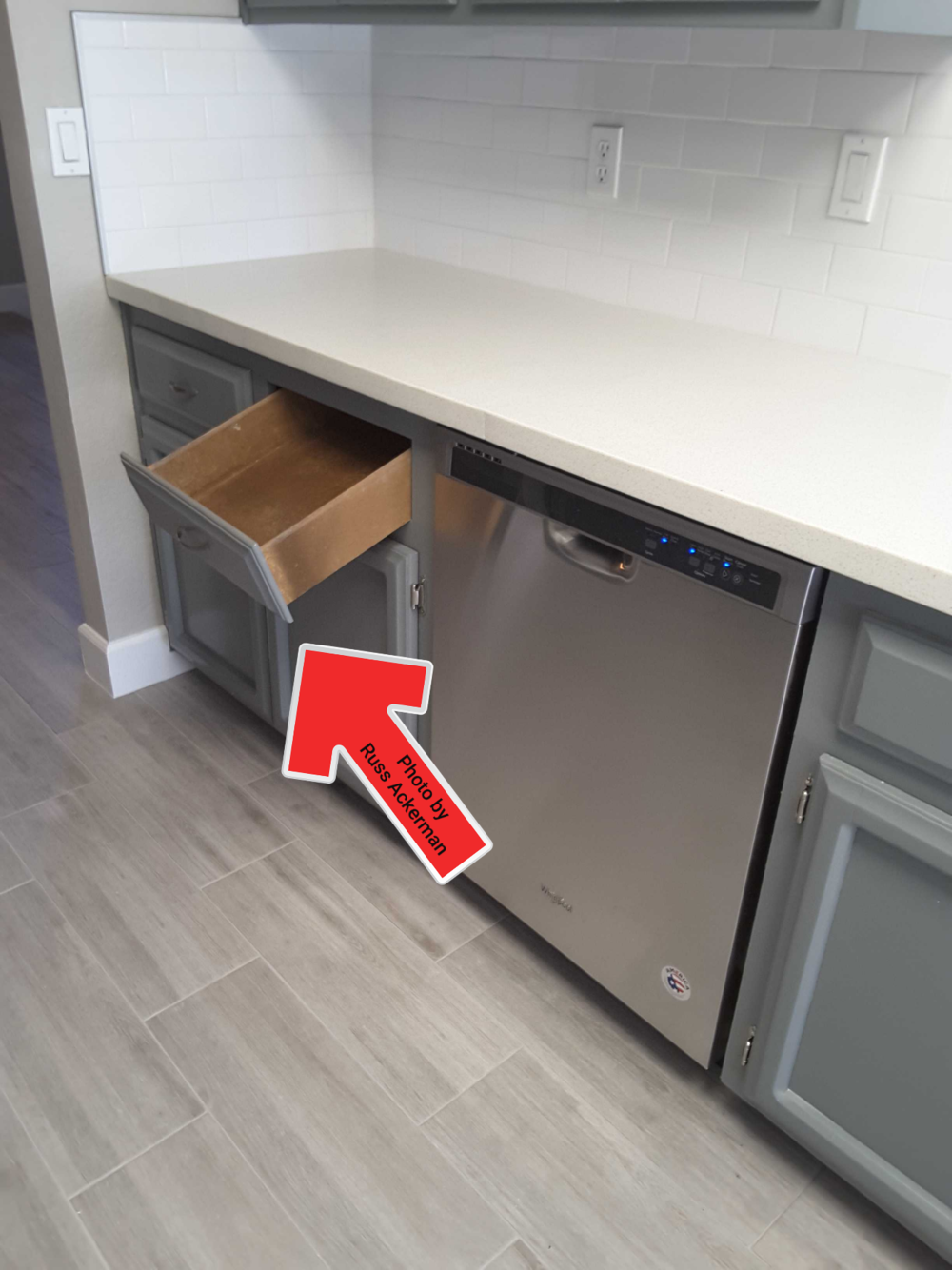 As your home inspector, I always test all kitchen and bathroom cabinets and drawers. There is usually at least one with missing or loose hardware.