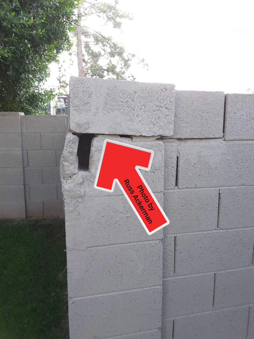 Loose blocks at walls are a safety hazard and the gaps and holes make a great place for lizards or scorpions to hang out in.