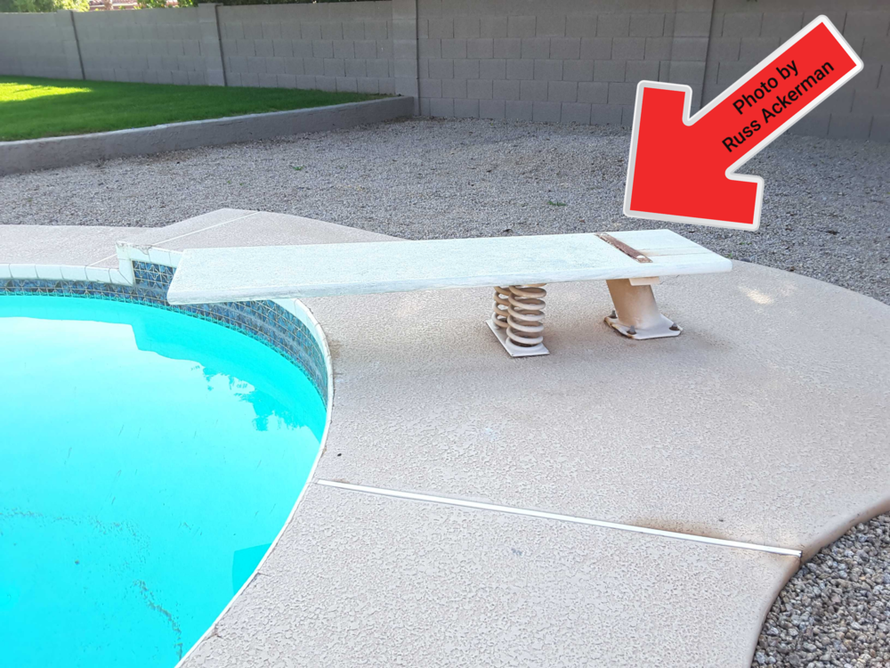 Diving boards are inherently dangerous, creating over 6,000 adolescent ER visits annually. Recommend regular inspections, using at your own risk and consider removal.