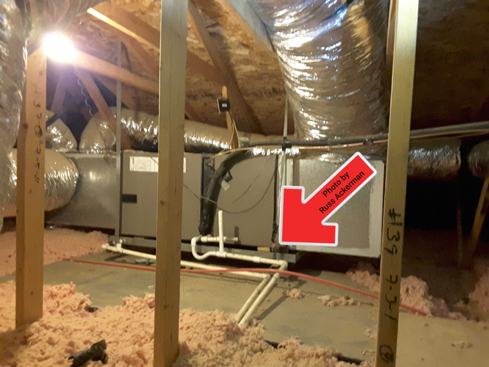 Your inspector should always enter the attic to inspect air handlers, condensate pans and drain lines. It's a very common source of leaks.