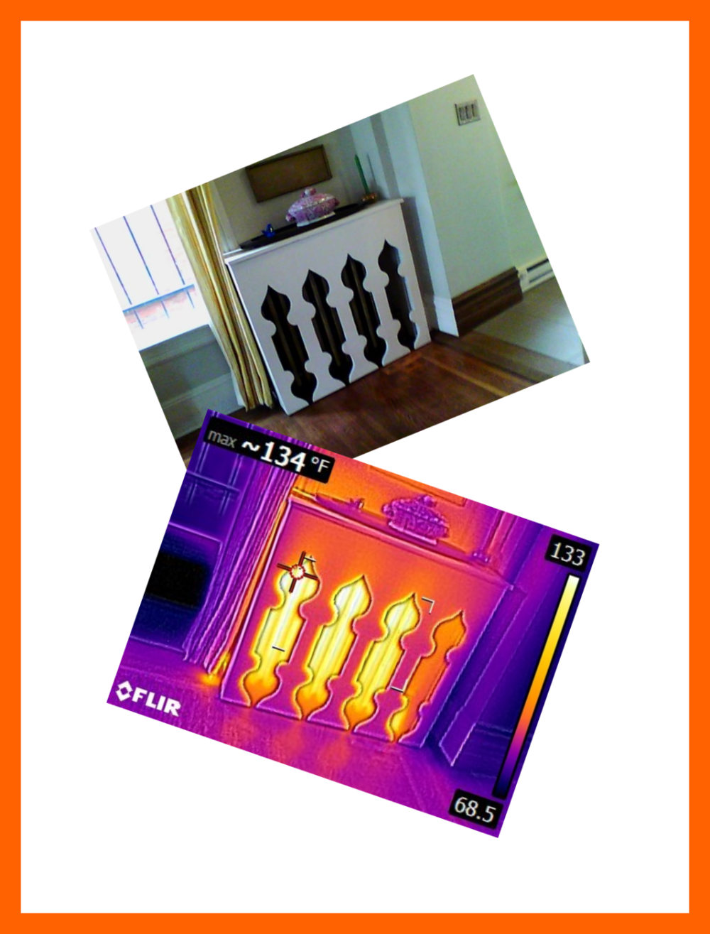 Infrared thermal imaging will quickly tell you heating/cooling differentials and can locate ducts in walls and ceilings.
